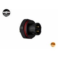 Wholesale Rear Male Panel Mount M16 IP68 4 Pin Round Power Connector from china suppliers