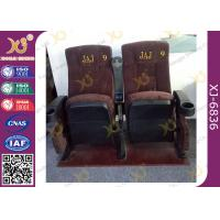 Wholesale Ergonomic Cinema Hall Auditorium Seating / Movie Theater Chairs With Soft Cushion from china suppliers
