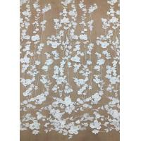 Wholesale Ivroy Color French 3D Floral Lace Fabric , High End Wedding Lace Fabric By The Yard from china suppliers