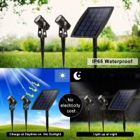Wholesale Solar Led Portable Motion Sensor Light 2 Head Spot For Garden Park Pathway Lighting from china suppliers