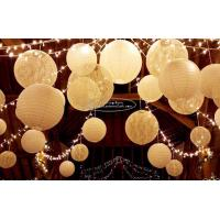 Buy cheap Carved Round Hanging Paper Lanterns Indoor For Party Decoration from wholesalers