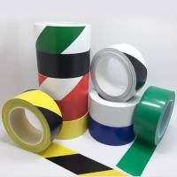 China Moisture Resistance Safety Warning Tape Roll , Hazard Floor Tape ROHS Approval on sale