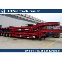 Wholesale Removable Low Bed Trailer For Heavy Transports , detachable gooseneck trailers from china suppliers