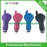 Wholesale High Performance Mobile Phones Micro USB Retractable Cable Car Charger with USB Output,USB from china suppliers