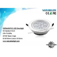 Wholesale Epistar  9w Led Downlights  CRI:70-85Ra 810lm 120mm Cutout 45 Degree from china suppliers