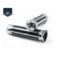Wholesale Skull Style Motorcycle Modification Parts Chormed Harley Davsion 25mm Handgrips from china suppliers