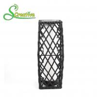 Wholesale Garden Patio Rattan Solar Post Lights , Wicker Outdoor Solar Lights LED Powered from china suppliers
