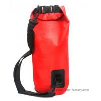 China 15L Durable Plastic Roll Top Dry Bag Removale Shoulder Strap For Outdoor Research on sale