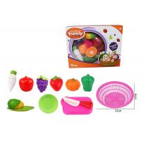 Wholesale 12 Pcs Pretend Role Play Children's Play Toys for Kitchen Fruit Vegetable Cutting from china suppliers