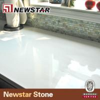 Wholesale low maintain snow white quartz countertop from china suppliers