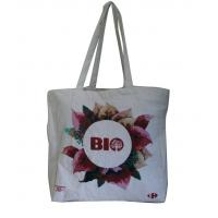Wholesale Natural color Eco linen  fabric personized printing Tote bag from china suppliers