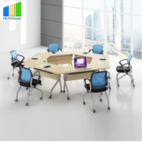 Wholesale Ebunge School Furniture Wooden Stackable Office Conference Folding Tables from china suppliers