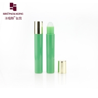 Wholesale Empty plastic green color cosmetic roll on perfume bottle with plastic ball from china suppliers