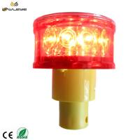 Buy cheap Solar LED Warning Barricade Light with light sensor for roadway safety from wholesalers