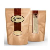 China Printing standing up Resealable snack  plastic brown kraft packaging paper bags with ziplock on sale