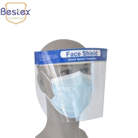 Wholesale Disposable Transparent 41g PU foam Antiviral Face Shield from china suppliers