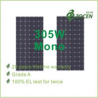 High Efficient 305W PV Monocrystalline Solar Panel with Anti-reflective Coating Manufactures