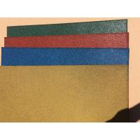 China Wear Resistant Outdoor Rubber Mats , Safe - Play Rubber Playground Tiles on sale