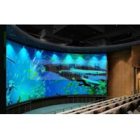 Quality Large curved screen 3D theatre cinema system with bubble snow rain lighting special effect system for sale