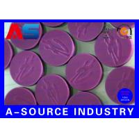 Wholesale 10mL Vials Bottles Purple Flip Off Cap Engraved Custom Design For Sterile Pharmacy from china suppliers