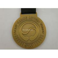China Zinc Alloy Brass Sports Ribbon Medals For Souvenirs / Honor / Prize on sale