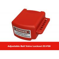 Wholesale OEM Red Color 3 Lock Holes 210G Adjustable Flanged Ball Valve Lock Out from china suppliers