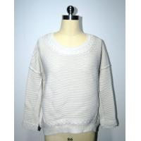 Buy cheap Semi Combed Cotton Ladies Pullover Sweaters Cable Knitting Round Neck Knitwear from wholesalers