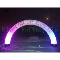Wholesale LED Decorated Color Change PVC Inflatable Arch Customized Ad For Event Or Advertising from china suppliers