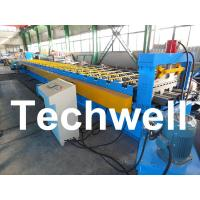 Buy cheap PLC Control System Steel Deck Roll Forming Machine With 24 Forming Stations from wholesalers