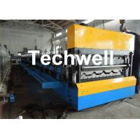 Wholesale Galvanized Steel Double Layer Forming Machine For Roof Wall Cladding With HRC50 - 60 Heat Treatment from china suppliers