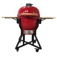 China wholesale hibachi charcoal camping grill outdoor kitchen ceramic egg bbq grill  rotisserie kamado on sale