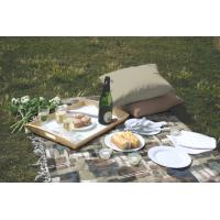 Professional Antique Dining Fabric Table Cloths , Outdoor Table Linens Manufactures