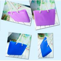 Wholesale Silicone beachs bag with cotton rope / silicone shopping beach bags /beach shoulder bags from china suppliers