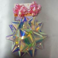 Rainbow Pattern Ribbons And Bows 4 Inch Diameter Big Size Star Bow