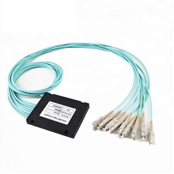 Quality 1*N FBT Fiber Optic Splitter / Fiber Optic Coupler 1x8 LC UPC Connectors With ABS Box for sale