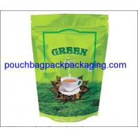 Wholesale Stand up pack pouch for tea packaging with zip lock, doypack with zipper from china suppliers