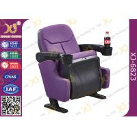 Wholesale Indoor Theater Auditorium Movie Theater Chairs Stadium Seating With Cup Holder from china suppliers
