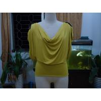 Wholesale Cosy Mustard Womens Fashion Tops Plus Size Drape Neck Tops With Sleeves from china suppliers