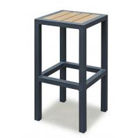 Quality Breakfast Metal Kitchen Bar Stools  , Metal Counter Stool With Wood Seat Without Backrest for sale