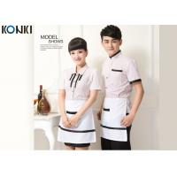 Wholesale Casual Restaurant Staff Uniforms , Custom Short Sleeve Stripe Shirt from china suppliers