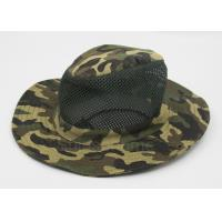 Cotton mesh camo fishing bucket hats for men customized for Fishing hats for sale