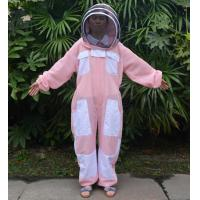 Wholesale Hooded Breathable and Pink Beekeeping Protective Clothing With YKK Zipper from china suppliers