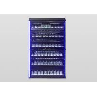 China Customized Illuminated Led Lighting Metal Large Cigar Display Cabinet on sale