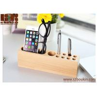 Wholesale 2018 High quality handmade wood cell phone stand phone holder desk organizer from china suppliers
