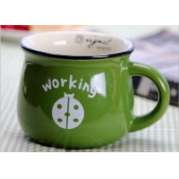 Wholesale Round  Milk Cans 9.5x8.4cm Personalised Ceramic Mugs from china suppliers