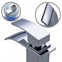 Wholesale Zinc Alloy Handle Easy Install Trough Style Bathroom Faucet Polished Surface Treatment from china suppliers