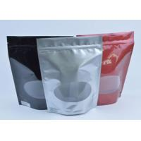 Wholesale Tea / Coffee Beans Stand Up Aluminum Foil Packaging Bags With Clear Window from china suppliers
