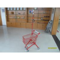 Wholesale Green Powder Coating 33 Liter Metal Kids Shopping Carts With Flag from china suppliers
