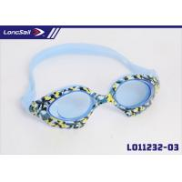 China Flower Pattern Anti Fog Diving Swimming Goggles with Shatter Resistant Polycarbonate Lens on sale