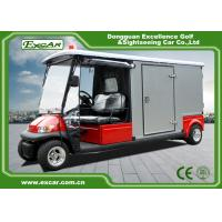 Wholesale Red 2 Seater 48v Electric Ambulance Vehicle For Park 1 Year Warranty from china suppliers